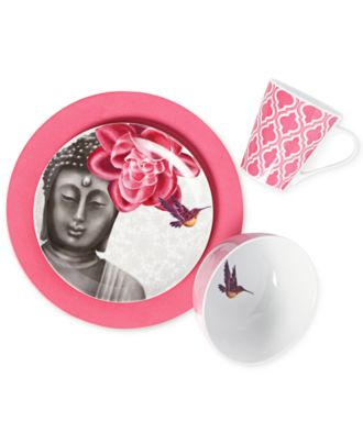Clinton Kelly Effortless Table Buddha's Secret 4 Piece Place Setting