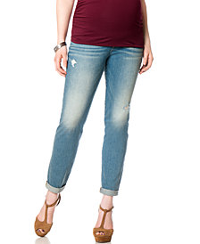 Motherhood Maternity Distressed Cropped Maternity Jeans