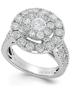 Diamond Cluster Ring in 14k White Gold (3 ct. t.w.)