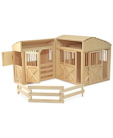 Kids' Folding Horse Stable Toy