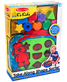 Melissa and Doug Kids' Take-Along Shape Sorter Toy