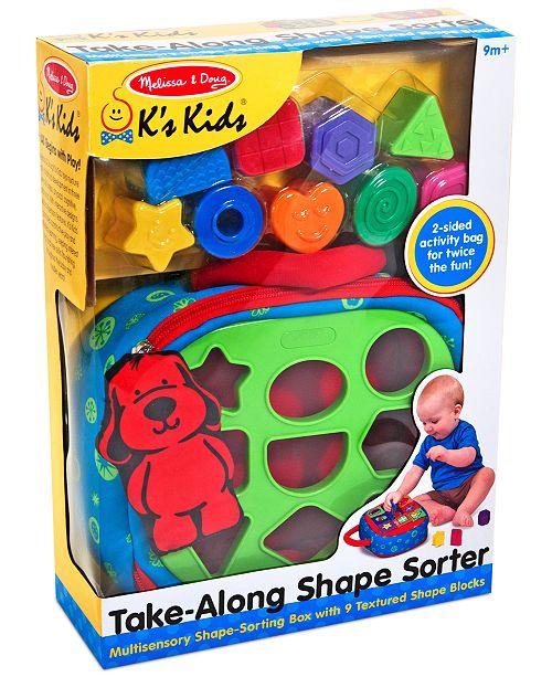 Melissa and Doug Kids' Take-Along Shape Sorter Toy