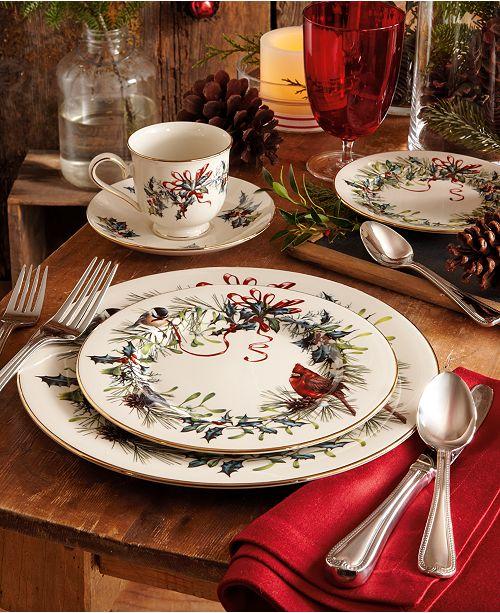 Lenox winter greetings 5 piece place setting fine china macys m4hsunfo