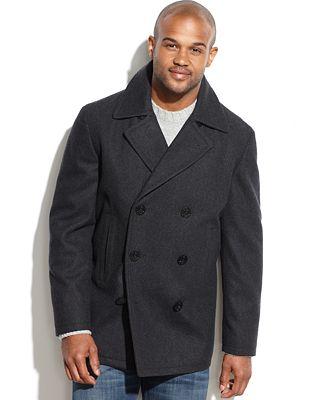 Nautica Wool-Blend Pea Coat - Coats & Jackets - Men - Macy's