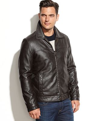 Tommy Hilfiger Classic Faux-Leather Jacket - Coats & Jackets - Men ...