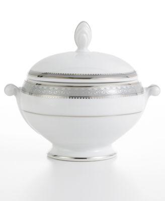 Mikasa Platinum Crown Covered Sugar Bowl