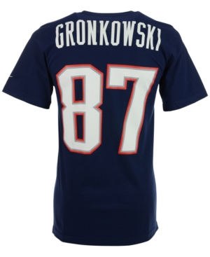 Nike Men's Short-Sleeve Rob Gronkowski New England Patriots Player T-Shirt