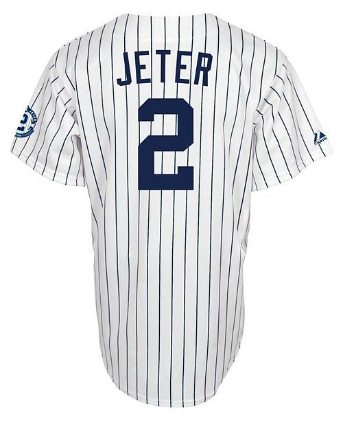 5c4a2cfc8ddf1 Majestic. Men s Derek Jeter New York Yankees Commemorative Replica Jersey.  Be the first to Write a Review. main image  main image