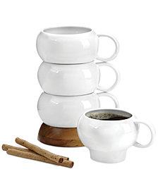 Nambe Bulbo Stack Set of 4 Mugs