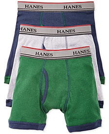 Hanes Platinum 3-Pk. Ringer Boxer Briefs, Little Boys & Big Boys