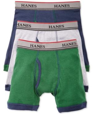Hanes Platinum 3Pk Ringer Boxer Briefs Little Boys (47)  Big Boys (820)