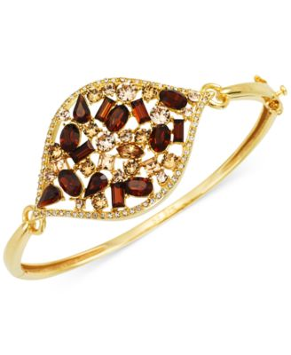 sis by simone i smith marquise bangle bracelet in 18k gold over sterling