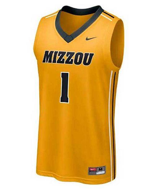 timeless design c4b20 28032 Nike Men's Missouri Tigers Replica Basketball Jersey ...