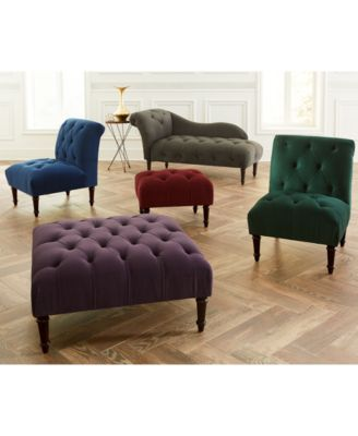 bradbury velvet tufted accent furniture collection quick ships for just 995