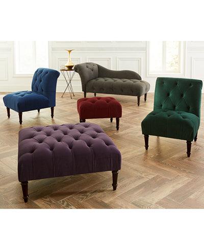 Bradbury Velvet Tufted Accent Furniture Collection, Quick Ship