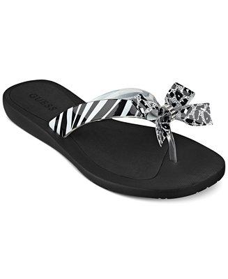 Guess Tutu Bow Flip Flops Sandals Shoes Macy S