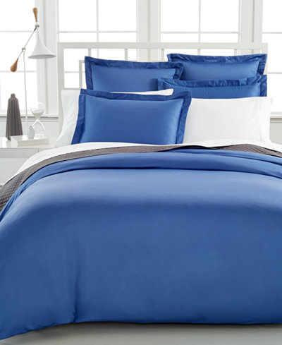 Charter club damask solid 500 thread count pima cotton for Pima cotton comforter