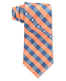 Detroit Tigers Checked Tie