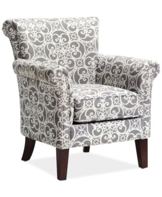 High Quality Sarah Printed Fabric Accent Chair Quick Ship. Accent Chairs And Recliners  Macy S