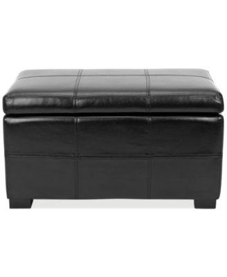 Safavieh Bergen Faux Leather Storage Ottoman, Quick Ship   Furniture    Macyu0027s