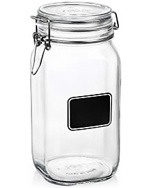 Bormioli Rocco Fido Chalk Label Tall Jar, 50.75 oz.