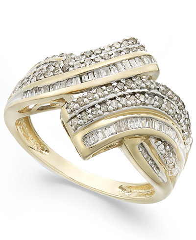 Wrapped in Love™ Diamond Twist Ring in 10k Gold (1/2 ct. t.w.), Created for Macy's