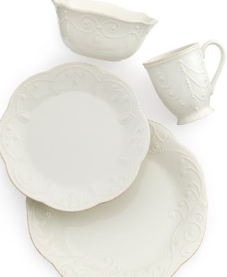 Lenox Dinnerware French Perle 4 Piece Place Setting  sc 1 st  Macy\u0027s & Lenox Dinnerware French Perle 4 Piece Place Setting - Dinnerware ...