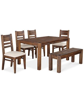 "4 Chair Dining Sets avondale 6-pc. dining room set, created for macy's, (60"" dining"