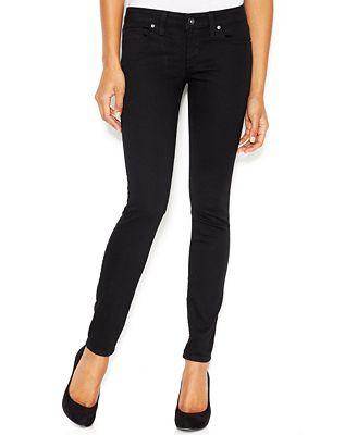 GUESS Power Low-Rise Skinny Jeans - Jeans - Women - Macy's