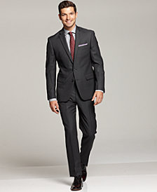 Ryan Seacrest Distinction Grey Modern Fit Suit Separates & Striped Dress Shirt