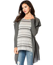 A Pea In The Pod Maternity Hooded Cashmere Cardigan Coat
