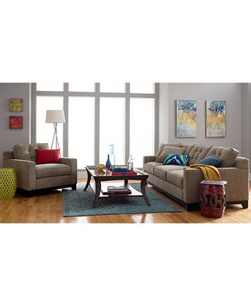 Clarke Fabric Living Room Chair Created For Macys
