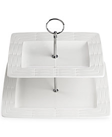 Lenox Entertain 365 Sculpture 2-Tier Rectangular Server