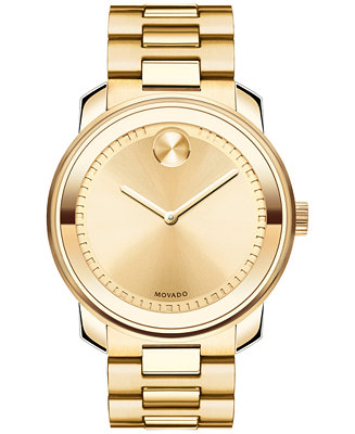 Movado Unisex Swiss Bold Gold Ion-Plated Stainless 3600258