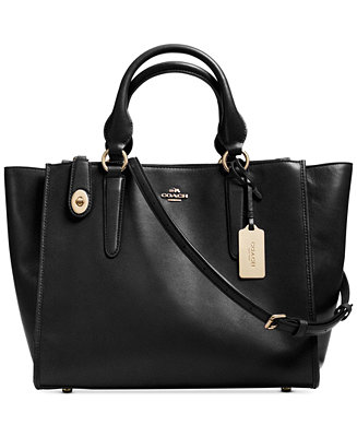 Coach Crosby Carryall In Leather Coach Handbags