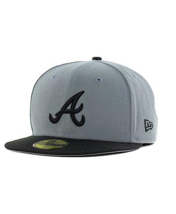 best loved 17eb2 8ed15 ... germany new era atlanta braves fc gray black 59fifty cap sports fan shop  by lids men