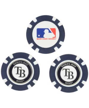 Team Golf Tampa Bay Rays 3-Pack Poker Chip Golf Markers