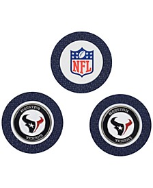 Houston Texans 3-Pack Poker Chip Golf Markers