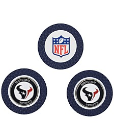 Team Golf Houston Texans 3-Pack Poker Chip Golf Markers
