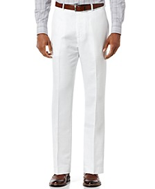 Men's Linen Blend Solid Twill Pants