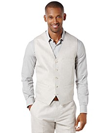 Men's Big and Tall Linen Blend Vest
