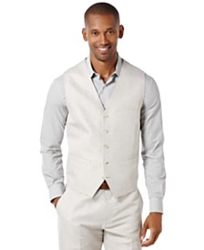 Perry Ellis Men's Big and Tall Linen Blend Vest
