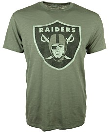 '47 Brand Men's Oakland Raiders Logo Scrum T-Shirt