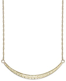 Diamond-Cut Curved Bar Pendant Necklace in 14k Gold