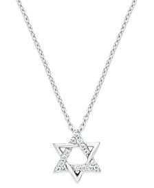 Diamond Star of David Pendant Necklace in Sterling Silver (1/10 ct. t.w.)