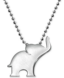 Little Luck by Elephant Pendant Necklace in Sterling Silver