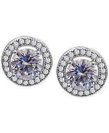 Giani Bernini Cubic Zirconia Halo Stud Earrings in Sterling Silver (1-3/4 ct. t.w.)