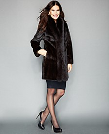 Fox-Trimmed Mink Coat