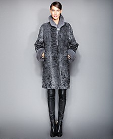 Mink-Fur-Trimmed Persian Lamb Coat