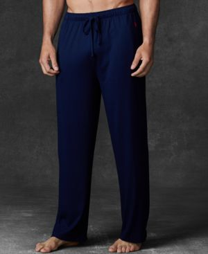 POLO RALPH LAUREN Men'S Ultra-Soft Pima Cotton Supreme Comfort Knit Pajama Pants in Cruise Navy